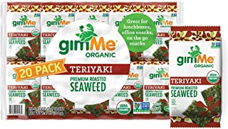gimMe Organic Roasted Seaweed Sheets - Teriyaki - 20 Count - Keto, Vegan, Gluten Free - Great Source of Iodine and Omega 3...