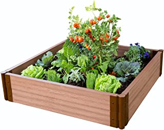 "Frame It All Tool-Free Classic Sienna Raised Garden Bed 4' x 4' x 11"" – 2"" Profile"