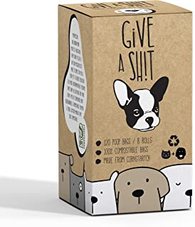Compostable Dog Poop Bags   10% to Charity   Biodegradable Vegetable Based   Eco and Earth Friendly Disposable Doggie Waste Baggies   Leakproof and Zero Odor Green Pet Supplies   Easy Compost Disposal