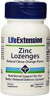 Life Extension, Zinc Lozenges, Natural Citrus-Orange Flavor, 60 Lozenges