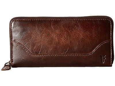 Frye Melissa Zip Wallet (Dark Brown) Wallet