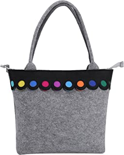 Hot New Fashion Colorful lovely Felt Bag handmade fashionable Big Size Women Bags