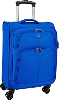 United Colors of Benetton Polyester 58 cms Blue Suitcase (0IP6SPO20E01I)