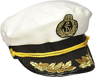 Forum Unisex-Adult's Yacht Captain's Hat, White, One Size