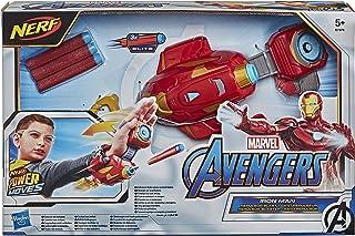 NERF Power Moves Marvel Avengers Iron Man Repulsor Blast-handschoen, NERF-dartblasterspeelgoed voor rollenspel, speelgoed ...