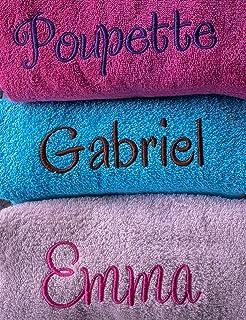 Linge éponge personnalisé, 100% coton, 500g/m², drap de bain avec prénom, cadeau personnalisé, cadeau prénom, cadeau naiss...