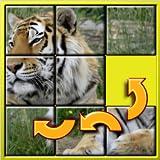Animal Slide Puzzle 15 - forma mística plazas arreglos adecuados para el desarrollo de niños envejecidos mayores inteligentes juego de mosaico para niños