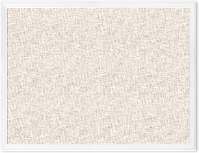 U Brands Linen Cork Bulletin Board 40 Nashville-Davidson Mall White 30 Inches Nashville-Davidson Mall x