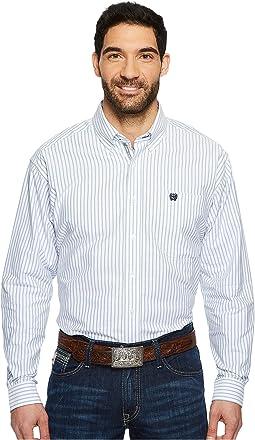 Cinch - Long Sleeve Oxford Weave Stripe