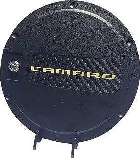 Defenderworx 901492 Black Fuel Door with Yellow Camaro Logo