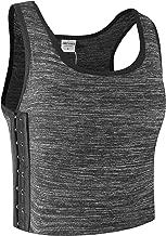 XUJI Women Tomboy Breathable Cotton Elastic Band Colors Chest Binder Tank Top (M-6XL)