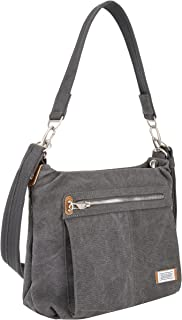 Travelon Anti-Theft Heritage Hobo Bag, Pewter (Gray) - 33072 540