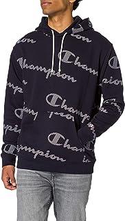 Champion Seasonal AC Logo Allover Hooded Sweatshirt Sudadera con Capucha para Hombre