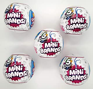 5-Surprise Mini Brands Collectible Capsule Ball by Zuru - 5 Ball Bundle