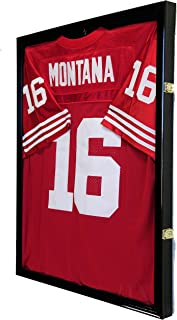 98% UV Protection - Baseball/Football/Basketball/Soccer/Hockey Jersey Display Case Shadowbox Wall Mount