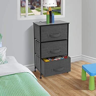 Sorbus Nightstand with 3 Drawers - Bedside Furniture & Accent End Table Storage Tower for Home, Bedroom Accessories, Offi