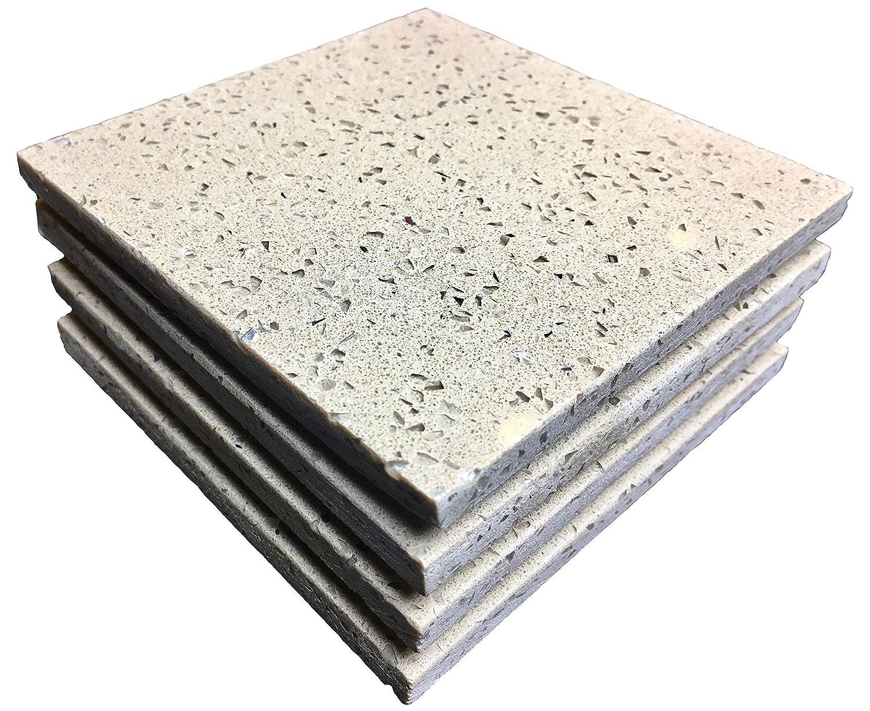 Stony Coasters Cheap - Set of Shimmer Max 48% OFF 4 Stone Quartz Desert