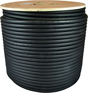 GLS Audio 500 feet Bulk Professional Speaker Cable 12AWG Black - Patch Cord 12 Gauge Wire - Pro 500' Spool Roll 12G 2 Conductor Bulk