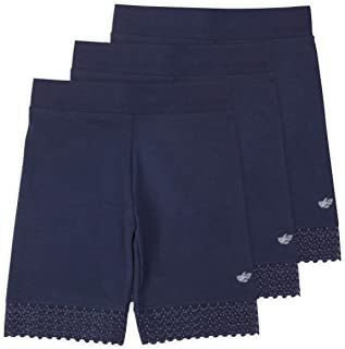 Lucky & Me | 3 Pack of Jada Little Girls Bike Shorts | Tagless | Super Soft Cotton with Lace Trim | Good Coverage