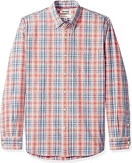 Goodthreads Camisa Chambray de Manga Larga de Ajuste estándar para Hombre
