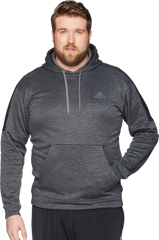 adidas Big & Tall Team Issue Fleece Pullover Dark Grey Heather Melange/Dark Grey Heather Melange 3XL Tall