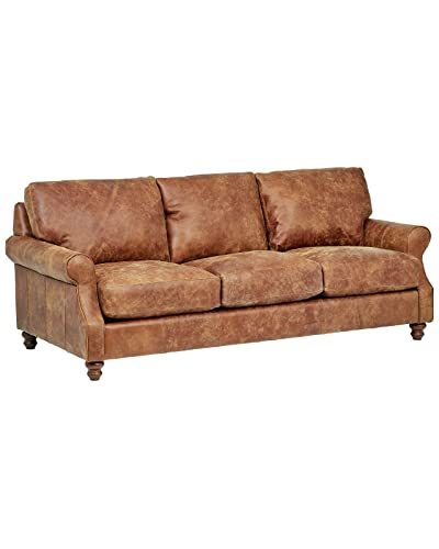 Stupendous Brown Leather Couches Amazon Com Theyellowbook Wood Chair Design Ideas Theyellowbookinfo