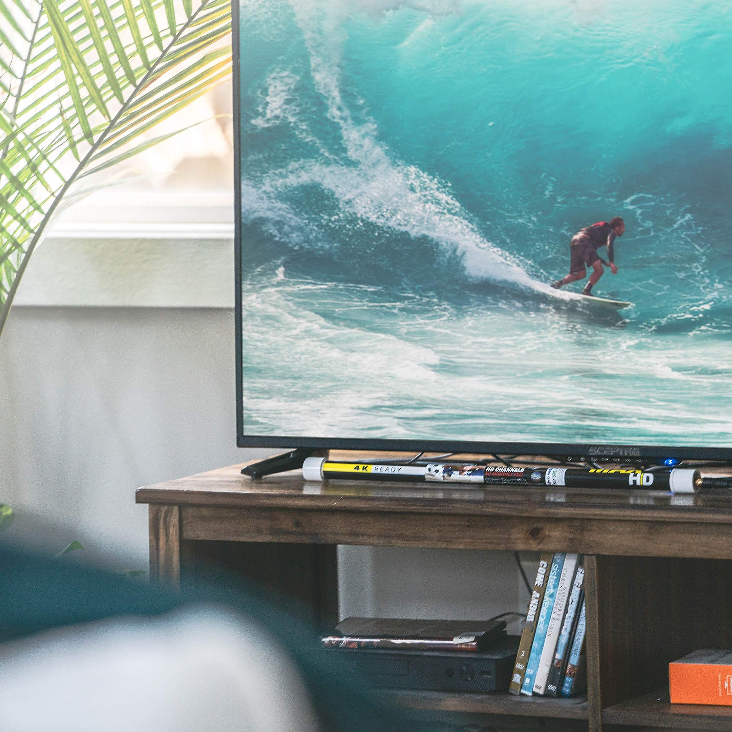 Magic Stick antena de TV – Antena de TV para interiores amplificada de hasta 60 millas de alcance – Antena mejorada de TV digital HD con amplificador de señal – Antena digital
