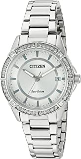 Citizen Women's Eco-Drive Crystal Accent Stainless Steel Bracelet Watch
