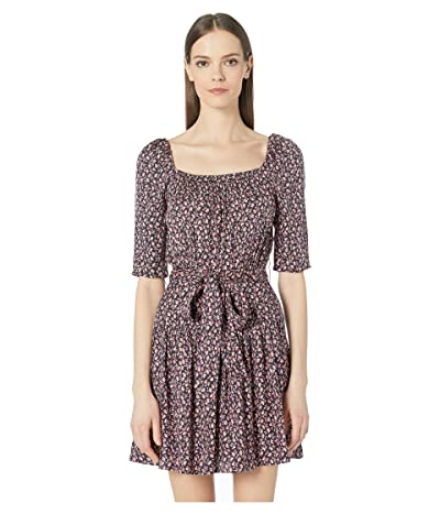 Rebecca Taylor Francesca Square Neck Dress (Navy Combo) Women