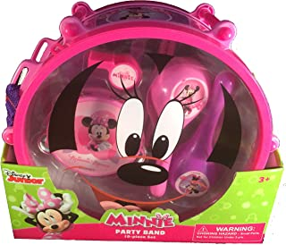 Disney Minnie Mouse Party Band 10 Piece Play Set Music Instruments: Drum & Sticks,Flute,Castanets,Tambourine,Maracas,Whistle: Mickey Mouse and Friends