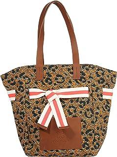 CODELLO Damen Tasche, Shopper | Animal-Print | 100% Baumwolle Canvas | 35 x 27 x 17 cm