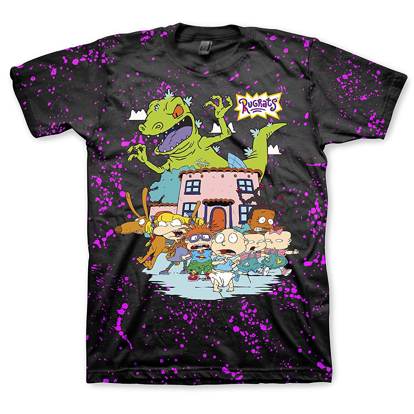 Nickelodeon Mens 90's Classic Shirt - Rugrats & Hey Arnold Vintage T-Shirt