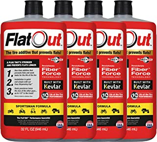 MULTI SEAL 99908 4-Pack FlatOut Tire Additive (Sportsman Formula), for ATVs, UTVs Sides, Golf Carts, Dirt Bikes, Off-Road-Only Jeeps and More, 4 Pack