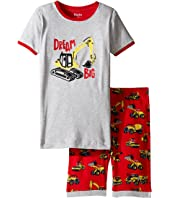 Hatley Kids - Heavy Duty Machines Short Pajama Set (Toddler/Little Kids/Big Kids)