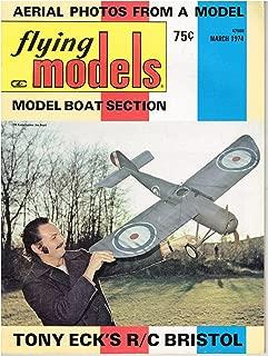 Flying Models Magazine (March 1974) R/C Model Boating/C/L Stunt P-26A/WW-1 Bristol M1B