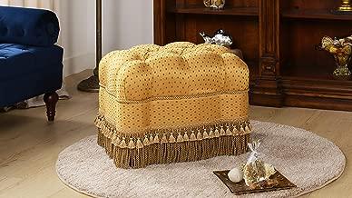 Jennifer Taylor Home Nancy Vanity Stool, Gold