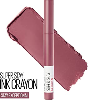 Maybelline New York SuperStay Ink Crayon Lipstick, Matte Longwear Lipstick Makeup, 0.04 Ounce