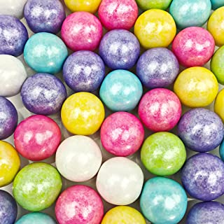 Shimmer Spring Gumballs - 2 Pound Bags - Large - One Inch in Diameter - About 120 Gumballs Per Bag - Free How To Build a Candy Buffet Guide Included