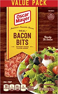 Oscar Mayer Real Bacon Bits, Hickory Smoked, 4.5 Ounce Bag (Pack of 6), Packaging may vary