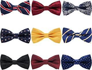 AVANTMEN Men's Pre-tied Bow Ties-Adjustable Bow Tie for Men Boys Bow-ties in Different Colors Assorted Ties