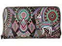 Sakroots Artist Circle Large Zip Around Wallet (Onyx Wanderlust)
