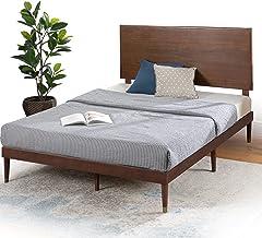 Zinus Queen Bed Frame Raymond Deluxe Mid Century | Platform Solid Wood Bed with Adjustable Headboard Height