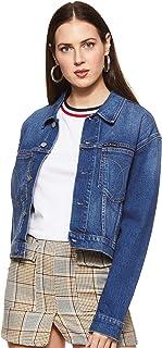 Calvin Klein Jeans Women's Cropped Omega Trucker Jacket