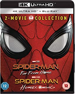 Spider-Man Far From Home & Spider-Man Homecoming [4K Ultra HD + Blu-ray] [2019] [Region Free] Exclusive to Amazon Box Set ...