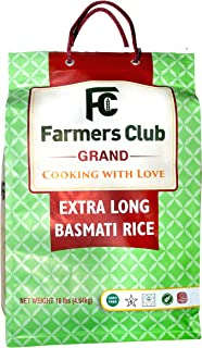Farmer's Club Basmati Rice 10 Pound Bag (Premium, Extra Long)