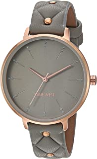 Nine West Women's Crystal Accented Vegan Leather Strap Watch, NW/2350