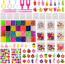 11,860+ Rubber Bands Refill Loom Set: 11,000 Premium Rubber Loom Bands 42 Unique Colors, 500 Clips, 210+ Beads, 85 ABC Beads to Bracelet Maker Making Kit for Kids, 46 Charms, 3 Backpack Hooks