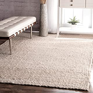 nuLOOM Hailey Handwoven Jute Rug, 5' x 8', Off-white