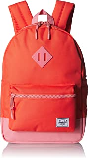 Herschel Heritage Youth Kid's Backpack, Hot Coral/Flamingo Pink, One Size
