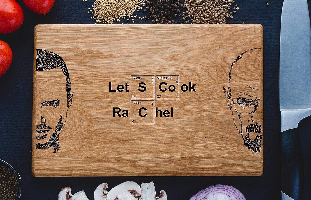 Breaking Bad Let S Cook Cutting Bord Breaking Bad Heisenberg Custom Engraved Cutting Board Featuring Let S Cook Walter White Cutting Board Anniversary Gift Breaking05